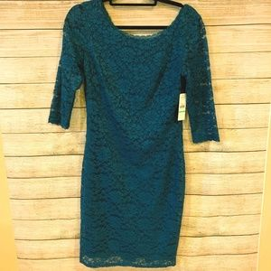 NWT Laundry by Shelli Segal Blue Lace Dress